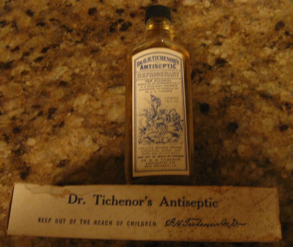Dr Tichenor S Antiseptic With Paper Label And Box Full